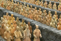 Army of terracotta soldiers, Forbidden Gardens, Katy, Houston, Texas, USA von Panoramic Images