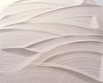 White plaster with striated pattern by Panoramic Images