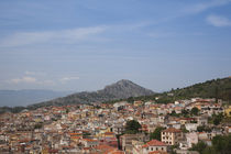 Houses in a town, Dorgali, Golfo di Orosei, Nuoro Province, Sardinia, Italy by Panoramic Images