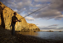 Angling at Stage Cove, Copper Coast, County Waterford, Ireland von Panoramic Images