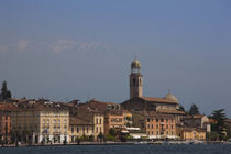 Town at the waterfront, Salo, Lake Garda, Lombardy, Italy by Panoramic Images