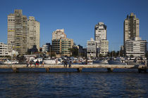 Buildings at the waterfront, Punta Del Este, Maldonado, Uruguay by Panoramic Images