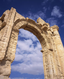 Low angle view of a triumphal arch, Palmyra, Syria von Panoramic Images