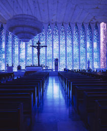 Interiors of a church, Dom Bosco Sanctuary, Brasilia, Brazil by Panoramic Images