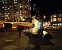 Statue of Adam Clayton Powell Jr at night von Panoramic Images