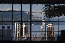 Ferry station at the lakeside, Stresa, Lake Maggiore, Piedmont, Italy by Panoramic Images