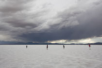 Tourists on a salt flat, Salinas Grandes, Jujuy Province, Argentina by Panoramic Images