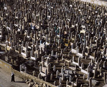High angle view of tombstones in a graveyard, Syria von Panoramic Images