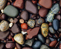 Detail of shoreline rocks, Lake Superior, Michigan, USA. von Panoramic Images