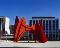 Sculpture in front of a building by Panoramic Images