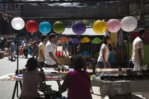 People shopping in a street market von Panoramic Images