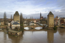 Bridge over a river, Ill River, Alsace, Strasbourg, France by Panoramic Images