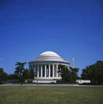 Facade of a building, Jefferson Memorial, Washington DC, USA by Panoramic Images
