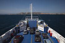 Cars in a ferry, Isola Maddalena, Sardinia, Italy by Panoramic Images