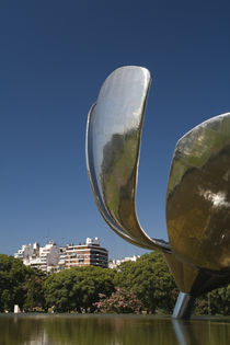 Low angle view of a flower sculpture by Panoramic Images
