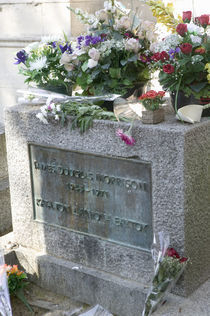 Grave of Jim Morrison, Pere-Lachaise Cemetery, Paris, France by Panoramic Images