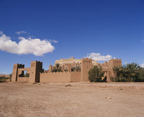Old ruins of a fortress on landscape, Ait Benhaddou, Morocco by Panoramic Images