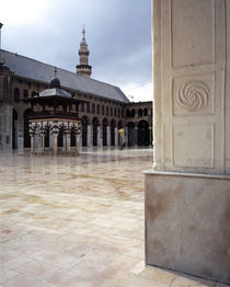 Courtyard of a mosque, Omayyad Mosque, Damascus, Syria by Panoramic Images