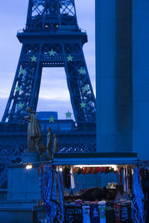 Tower at dawn, Eiffel Tower, Champ De Mars, Paris, Ile-de-France, France by Panoramic Images