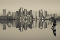 Reflection of buildings in water, Boston, Massachusetts, USA von Panoramic Images