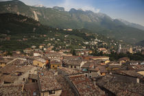 Town viewed from a Castello Scaligero by Panoramic Images