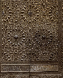 Close-up of a carved door, Egypt von Panoramic Images