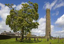 Round Tower, St Brigid's CI Cathedral, Kildare Town, Co Kildare, Ireland by Panoramic Images