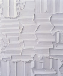 Textured white plaster background by Panoramic Images