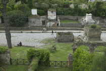 High angle view of tourists at a place of burial by Panoramic Images