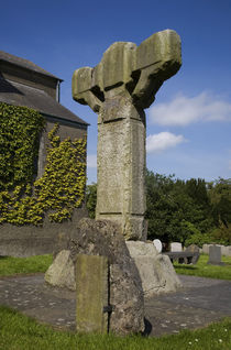 High Cross in St Columba's Church, Ceanannas Mor (Kells), County Meath, Ireland by Panoramic Images