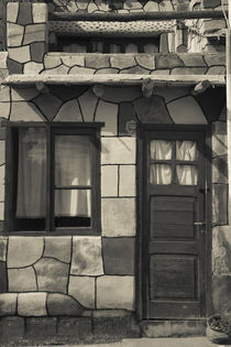 Facade of a stone house, Tilcara, Quebrada De Humahuaca, Argentina von Panoramic Images