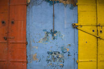 Detail of a weathered wall in a flower market, Port Louis, Mauritius by Panoramic Images