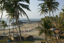 High angle view of a beach, Vagator Beach, Goa, India by Panoramic Images