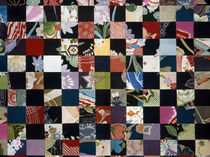Quilt of black and multicolored horizontals von Panoramic Images
