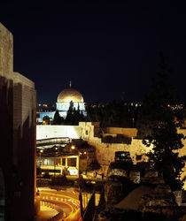 Mosque in a city, Omar Mosque, Western Wall, Jerusalem, Israel von Panoramic Images