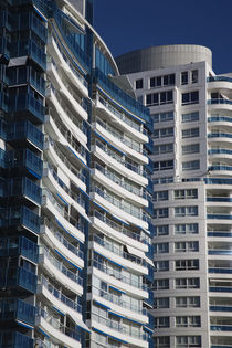 Condominiums in a city by Panoramic Images