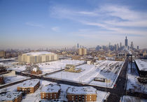 High angle view of a city, United Center, Chicago, Cook County, Illinois, USA by Panoramic Images