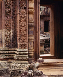 Carving details on the walls, Angkor Wat, Cambodia by Panoramic Images