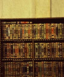 Bookshelf in a mosque, Omayyad Mosque, Damascus, Syria von Panoramic Images