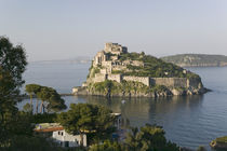 Castle on an island, Castello Aragonese, Ischia, Naples, Campania, Italy by Panoramic Images