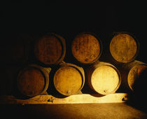 Barrels in a cellar, Chateau Pavie, St. Emilion, Bordeaux, France by Panoramic Images