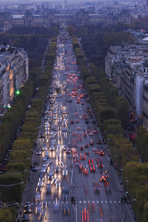 High angle view of traffic on the road von Panoramic Images