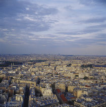 High angle view of cityscape, View from Eiffel Tower, Paris, France by Panoramic Images