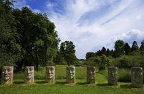 Sculptures in the Millenium Garden, Birr Castle, County Offaly, Ireland von Panoramic Images