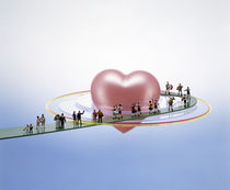 Floating bright pink heart  von Panoramic Images