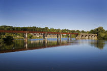 The Blackwater River and old Railway Bridge by Panoramic Images