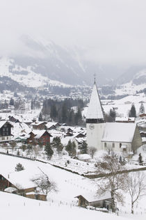 High angle view of a church in a town, Berne, Switzerland by Panoramic Images