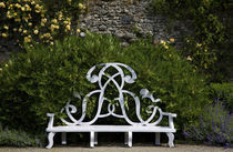 Garden Seat bearing the initials of the Earls of Rosse von Panoramic Images