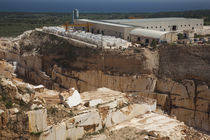 High angle view of a marble quarry, Orosei, Golfo di Orosei, Sardinia, Italy von Panoramic Images