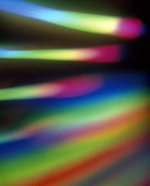 Out of focus sticks of color spectrum von Panoramic Images